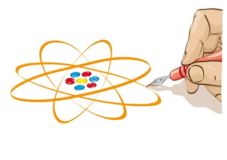 electrons: draw the atom