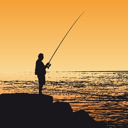 recreational fishermen: Pescador