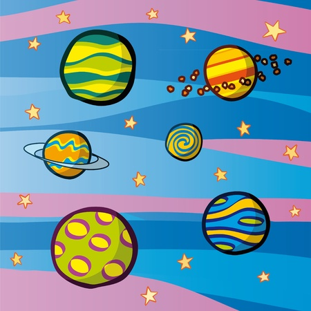 planets Stock Vector - 10710434