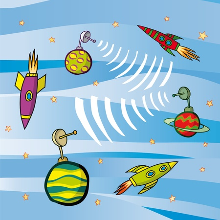 saturn planet: rockets and planets