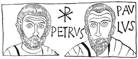 paulus: Petrus Paulus Illustration