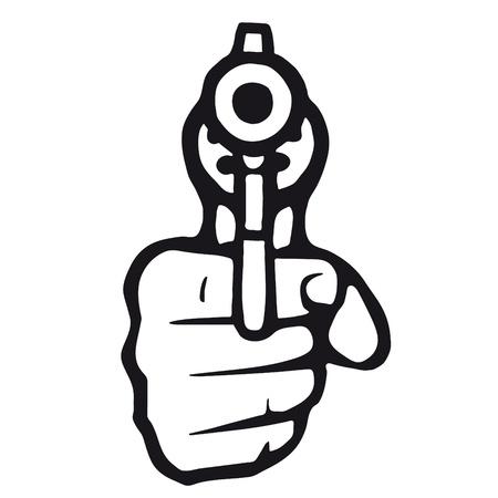 hand gun: gun