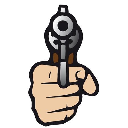 pistolas: arma de fuego Vectores