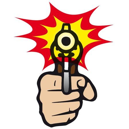 fusil de chasse: pistolet Illustration