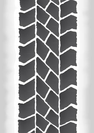 tire tracks Stock Vector - 10726269