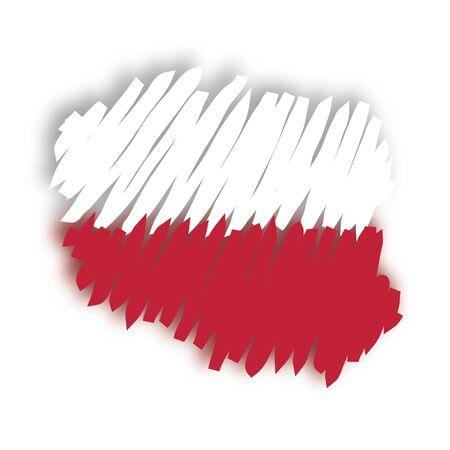 polish flag: map flag Poland