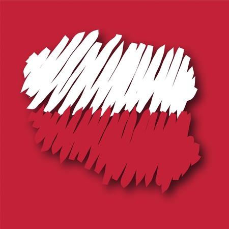 poland flag: map flag Poland