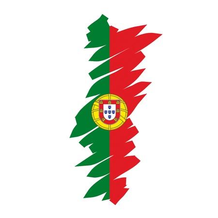 drapeau portugal: Carte de drapeau du Portugal