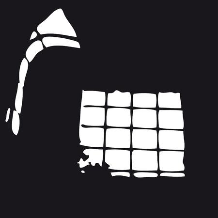 Prison window Stock Vector - 10725897