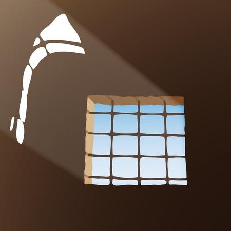 Prison window Stock Vector - 10726276