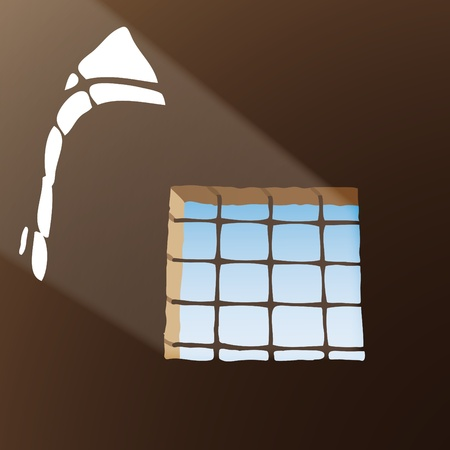 incarceration: Prison window Illustration