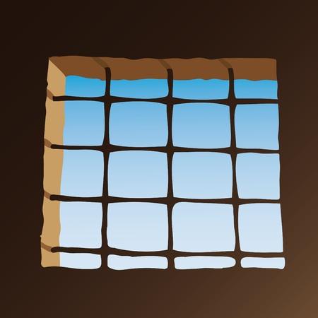 Prison window Vector