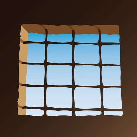Prison window Stock Vector - 10725899