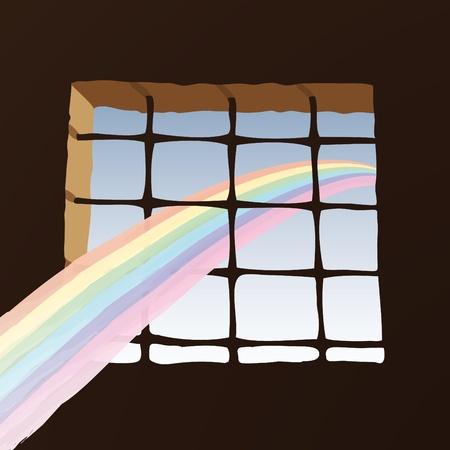 Prison window Stock Vector - 10726136