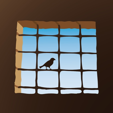 prison break: Prison window Illustration