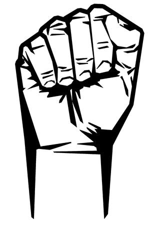 protest sign: revolution Illustration