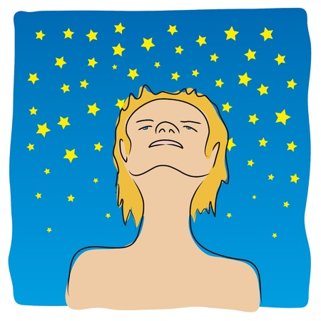 Immersed in the stars Stock Vector - 10725871