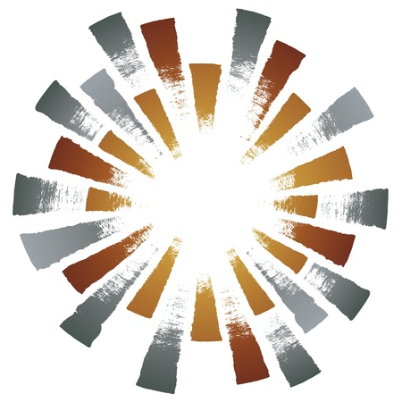 concentric circles: radial light Illustration
