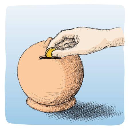 equidad: ahorrar Vectores