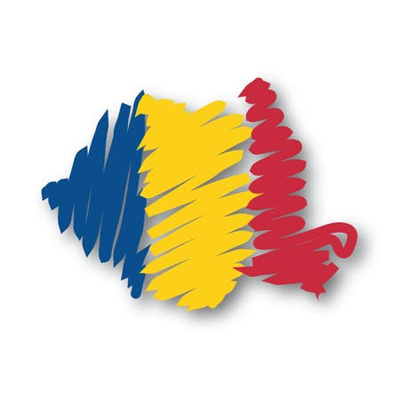 graphing: flag map Romania