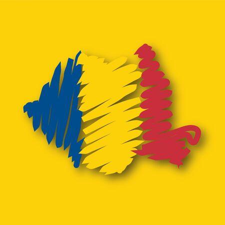 graphing: Mapa de la bandera Rumania