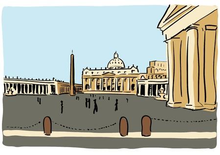 lazio: St. Peter Illustration