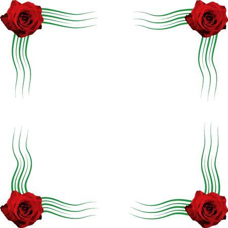 rose frame Stock Vector - 10736388