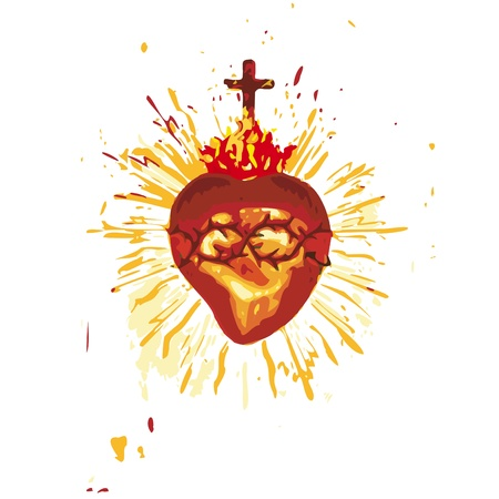 Sacred Heart Stock Vector - 10736364