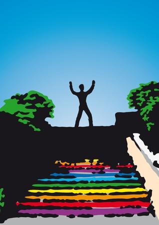 prospect: top of the ladder Illustration