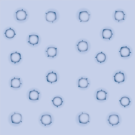 irradiation: background with circles