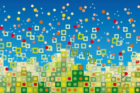 pixelated: abstract background Illustration