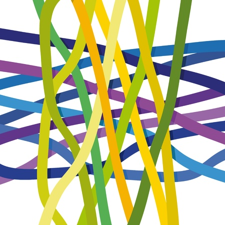 curved lines: abstract background Illustration