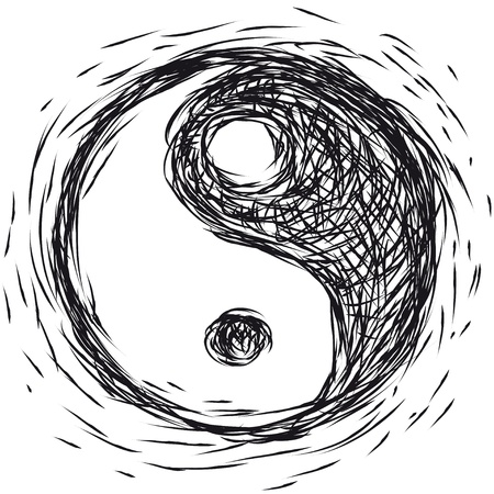 yin and yang: symbol Ying  yang