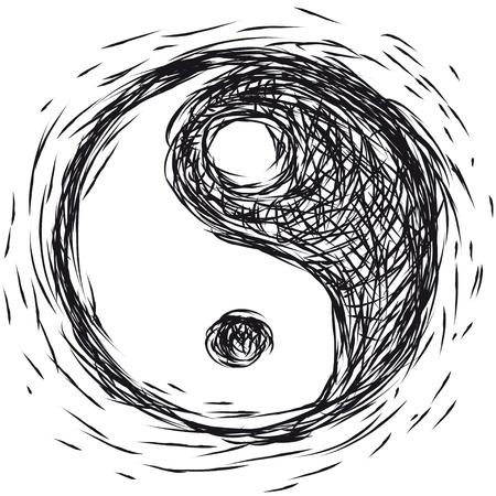 symbol Ying  yang Vector