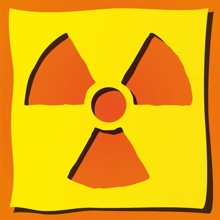 radioactive symbol: radiactivo s�mbolo