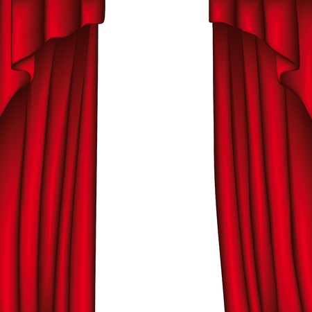 red stage curtain: Curtain