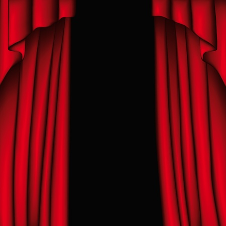 Curtain Stock Vector - 10736957