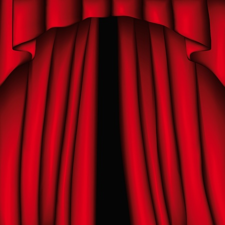 Curtain Stock Vector - 10736959