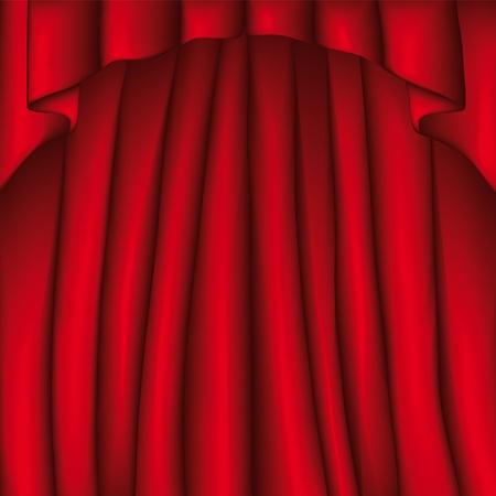 cortinas rojas: Cortina Vectores