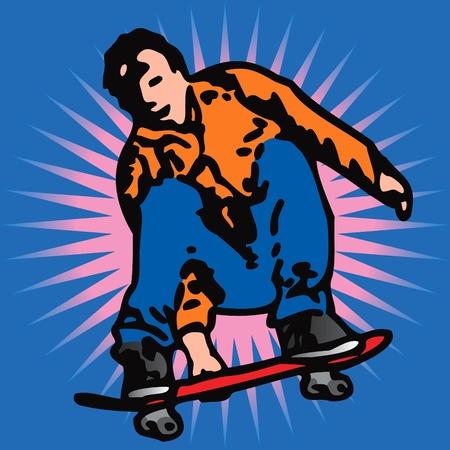 tabla de surf: patinador