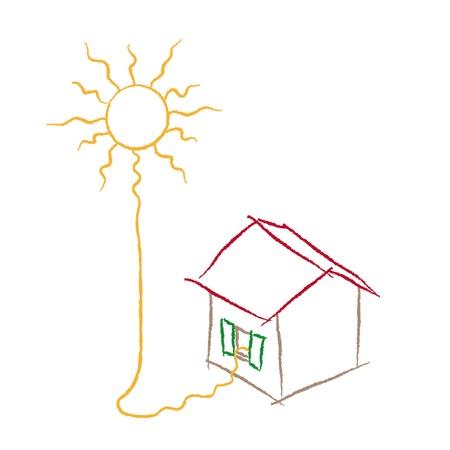 solar heating: solar energy Illustration