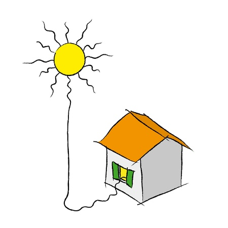 sustainable resources: solar energy Illustration