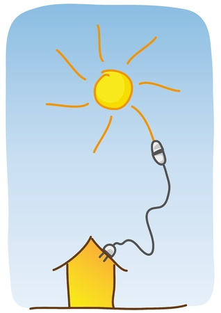 heating: solar energy Illustration
