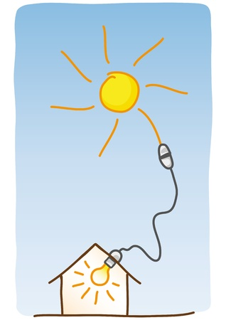 generator: solar energy Illustration