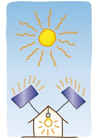 savings: solar energy Illustration