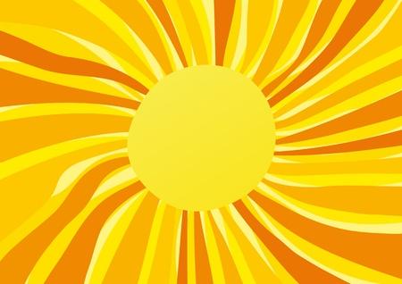irradiation: sun Illustration