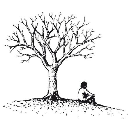 psique: Hombre sentado