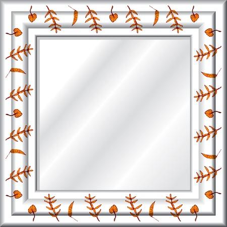 marcos decorados: Espejo Vectores