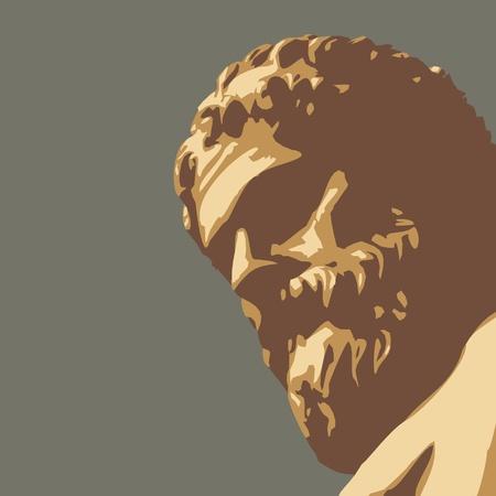 oude standbeeld