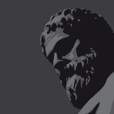 ancient statue Vector